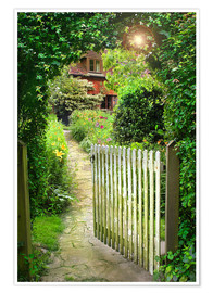 Poster  Secret Garden Gate - Simon Kayne