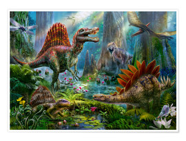 Poster Premium  The Dino meeting - Jan Patrik Krasny
