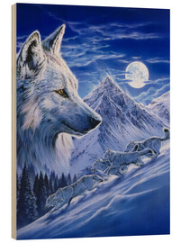 Stampa su legno  Running with the pack - Robin Koni