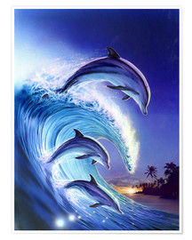 Poster Premium  Riding the wave - Robin Koni