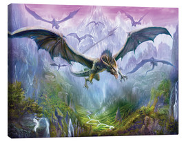 Stampa su tela  The Valley Of Dragons - Dragon Chronicles