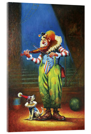 Vetro acrilico  Clown and dog - Petar Meseldzija