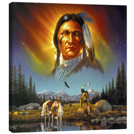 Stampa su tela  Chief eagle feather - Chris Hiett