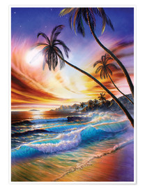 Poster Premium Tropical beach