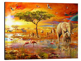 Stampa su alluminio  Savanna Pool - Adrian Chesterman