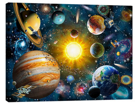 Stampa su tela  Our Solar System - Adrian Chesterman