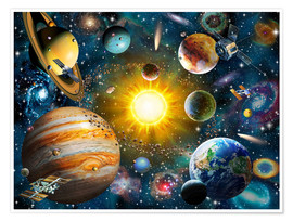 Poster  Our Solar System - Adrian Chesterman
