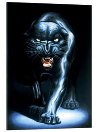 Vetro acrilico  Black Panther - Adrian Rigby