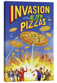 Tela  Invasion of the alien pizzas - Gareth Williams