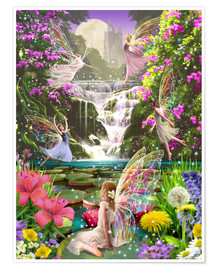 Poster Premium  Waterfall fairies - Garry Walton