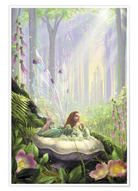 Poster Premium  Wood fairy - Garry Walton