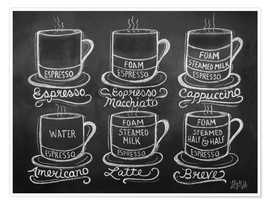 Poster Premium  Coffee Cups - Lily & Val