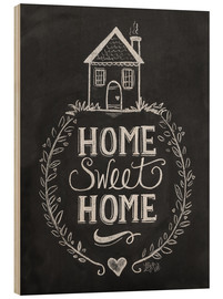 Stampa su legno  Home Sweet Home - Lily & Val