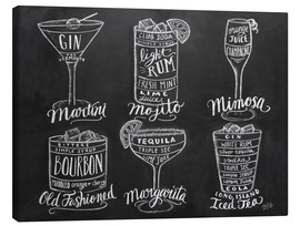 Stampa su tela  Ricette di cocktail (in inglese) - Lily & Val