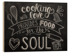 Stampa su legno  Cooking With Love - Lily & Val