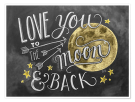 Poster Premium  Love you to the moon - Lily & Val