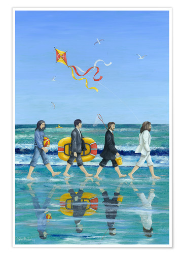 Poster Premium Abbey Road Beach