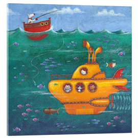 Stampa su vetro acrilico  Yellow Submarine - Peter Adderley