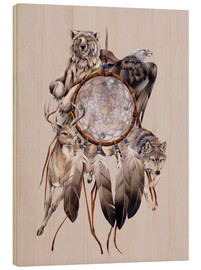 Stampa su legno  Dream catcher - Jody Bergsma