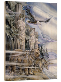 Stampa su legno  The three watchmen - Jody Bergsma