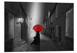 Forex  The woman with the red umbrella - Monika Jüngling