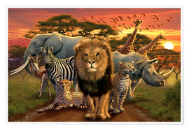 Poster  African beasts - Andrew Farley