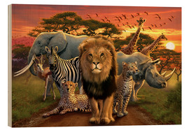 Stampa su legno  African beasts - Andrew Farley