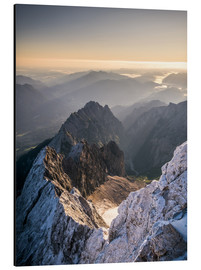 Alluminio Dibond  View over the Alps from Zugspitze - Andreas Wonisch