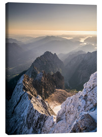 Tela  View over the Alps from Zugspitze - Andreas Wonisch