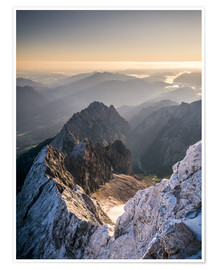 Poster  View over the Alps from Zugspitze - Andreas Wonisch