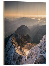 Legno  View over the Alps from Zugspitze - Andreas Wonisch