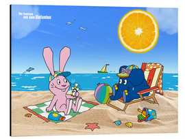 Stampa su alluminio  Elephant and Hare go on holiday