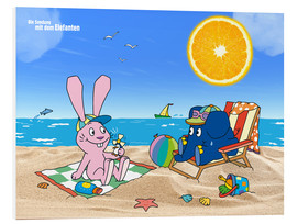 Stampa su PVC  Elephant and Hare go on holiday