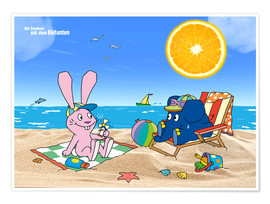 Poster Premium  Elephant and Hare go on holiday