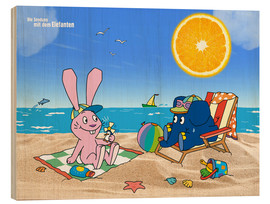 Stampa su legno  Elephant and Hare go on holiday
