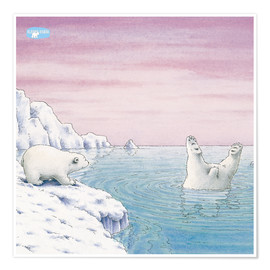 Poster Premium  The Little Polar Bear at splash