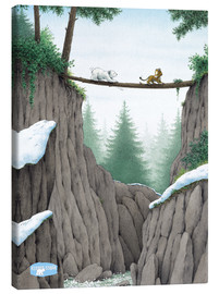 Stampa su tela  The Little Polar Bear, the test of courage