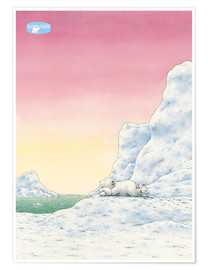 Poster Premium  The Little Polar Bear while thinking