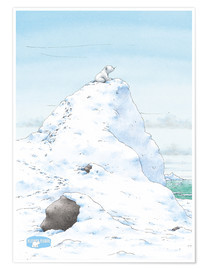 Poster Premium  The Little Polar Bear, at the top
