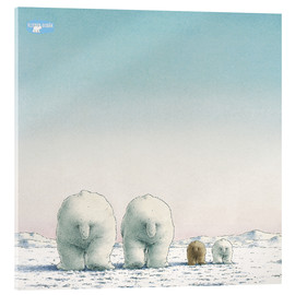 Vetro acrilico  The Little Polar Bear and his family