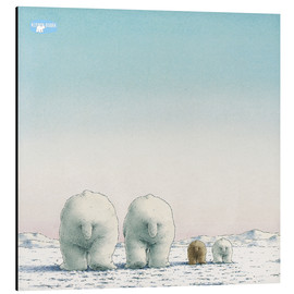 Alluminio Dibond  The Little Polar Bear and his family