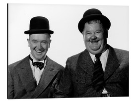 Alluminio Dibond  Laurel and Hardy: Nothing but trouble
