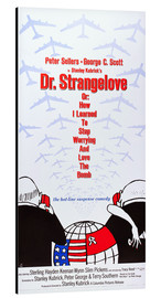 Stampa su alluminio  DR. STRANGELOVE OR: HOW I LEARNED TO STOP WORRYING AND LOVE THE BOMB