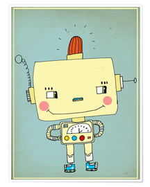 Poster Premium  Robbie robot in love - Little Miss Arty