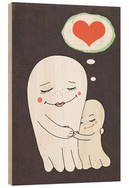 Stampa su legno  Together less scary - Little Miss Arty