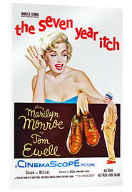 Stampa su vetro acrilico  THE SEVEN YEAR ITCH, Marilyn Monroe, Tom Ewell