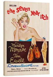Stampa su legno  THE SEVEN YEAR ITCH, Marilyn Monroe, Tom Ewell