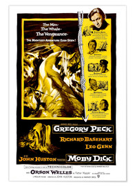 Poster Premium MOBY DICK, Gregory Peck