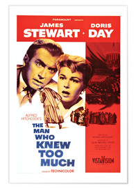 Poster Premium  THE MAN WHO KNEW TOO MUCH, James Stewart, Doris Day