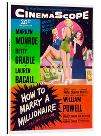 Stampa su alluminio  HOW TO MARRY A MILLIONAIRE, Betty Grable, Marilyn Monroe, Lauren Bacall